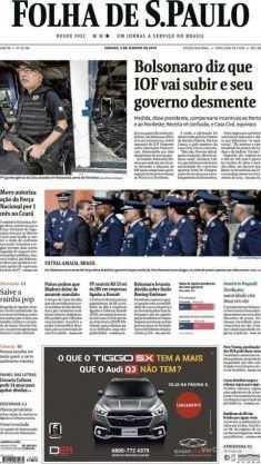 Paraíba Online • Manchetes dos principais jornais nacionais deste sábado
