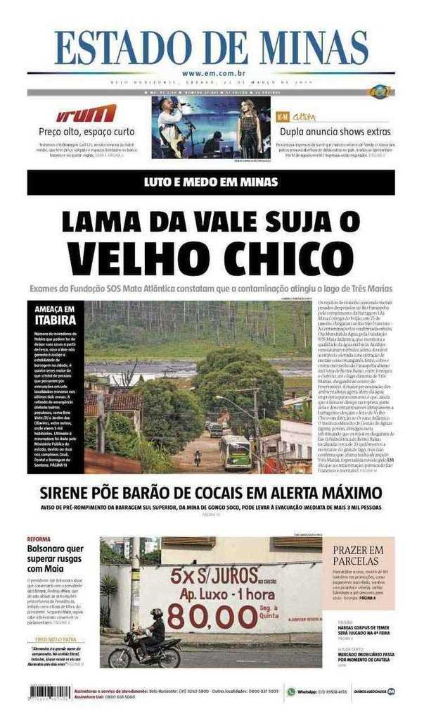 Paraíba Online • Manchetes deste sábado dos principais jornais nacionais
