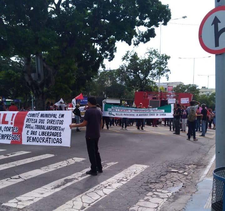 Protestos no Centro de Campina Grande - Foto: Ascom