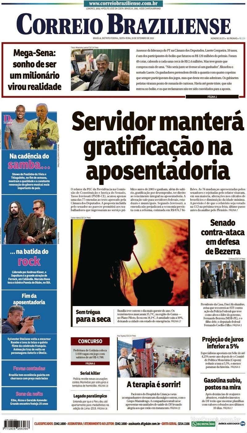 Paraíba Online • Manchetes desta sexta-feira dos principais jornais nacionais