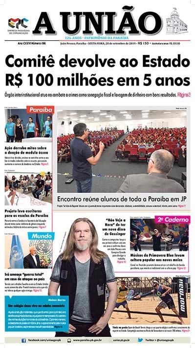 Paraíba Online • Manchetes desta sexta-feira dos jornais paraibanos