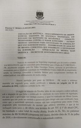 Paraíba Online • Justiça determina afastamento de diretor do Detran em Campina Grande