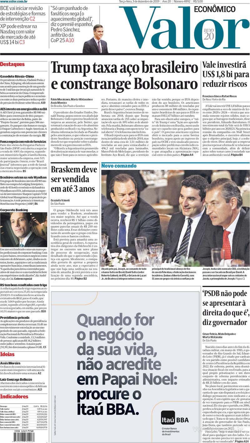 Paraíba Online • Manchetes desta terça-feira dos principais jornais nacionais