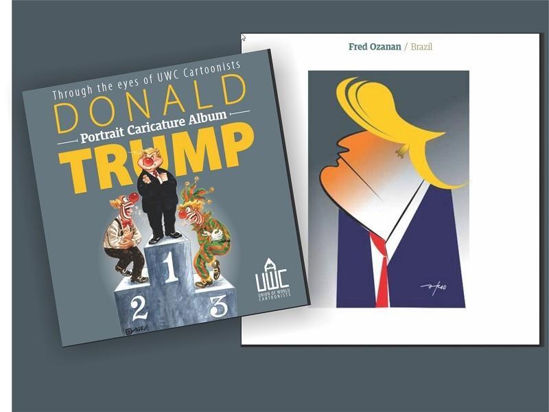 Paraíba Online • Caricaturas de Fred Ozanan são destaque em catálogo internacional