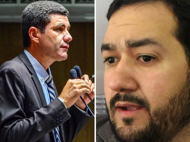 Do lado esquerdo, o vereador Galego do Leite. Do outro lado, Rodrigo Ramos. (Foto: Montagem/Paraibaonline)