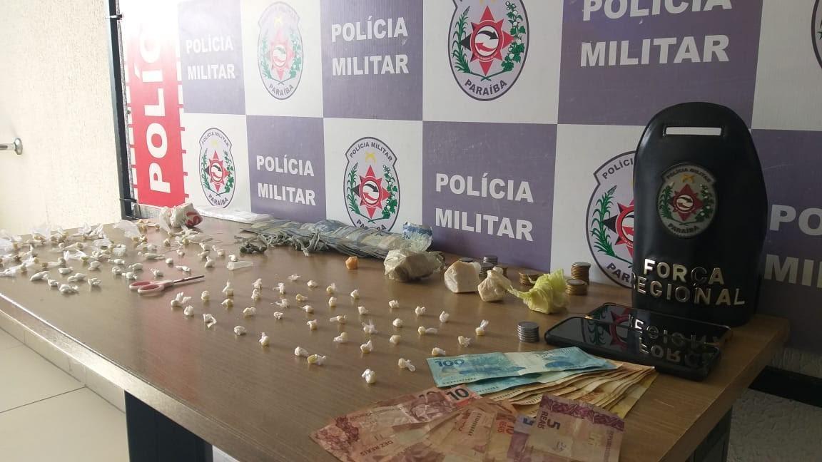 Paraíba Online • Polícia Militar prende suspeito de tráfico de drogas na zona sul de João Pessoa