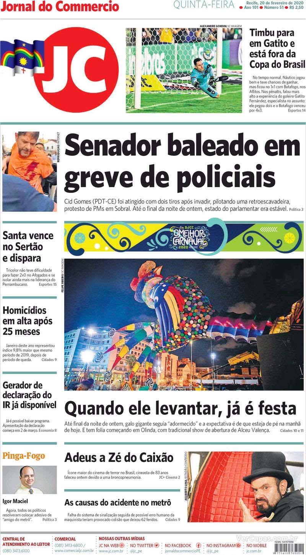 Paraíba Online • Manchetes desta quinta-feira dos principais jornais nacionais