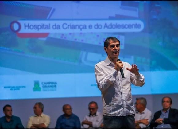 Paraíba Online • Prefeito de CG quer antecipar entrega do novo Hospital da Criança e do Adolescente