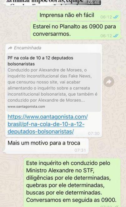 """Paraíba Online • Sérgio Moro divulga mensagens nas quais afirma que """"não está à venda"""""""
