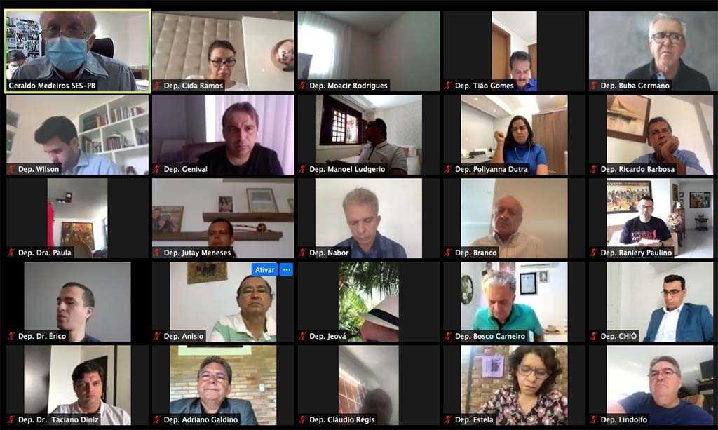 Paraíba Online • Deputados paraibanos voltam a debater com secretário ações de combate ao coronavírus