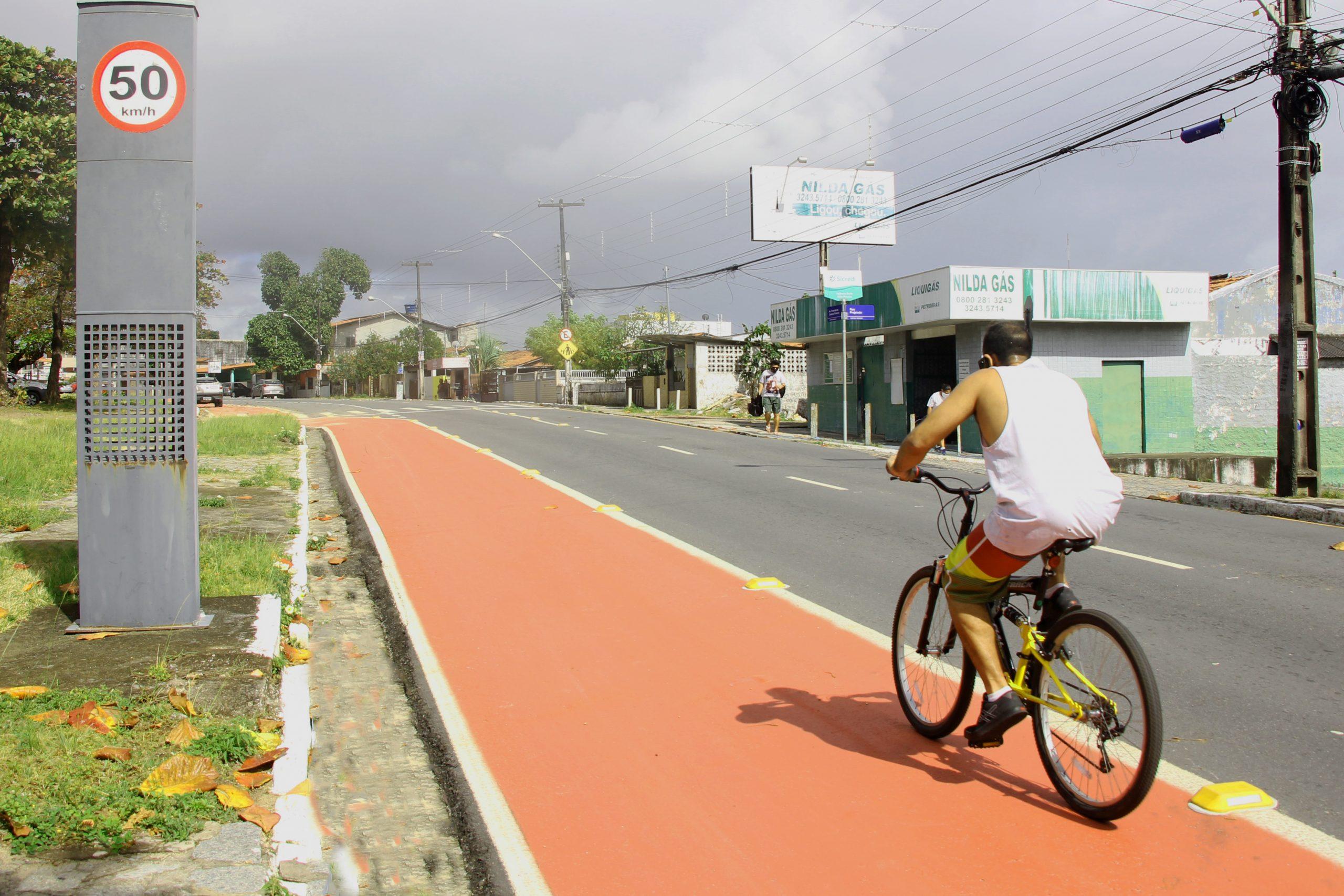 Paraíba Online • João Pessoa ganha mais de 10 km de novas faixas para ciclistas