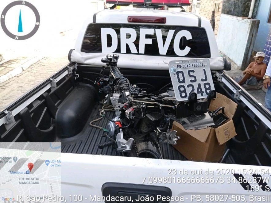 Paraíba Online • Polícia Civil localiza casa usada para desmanche de moto roubada