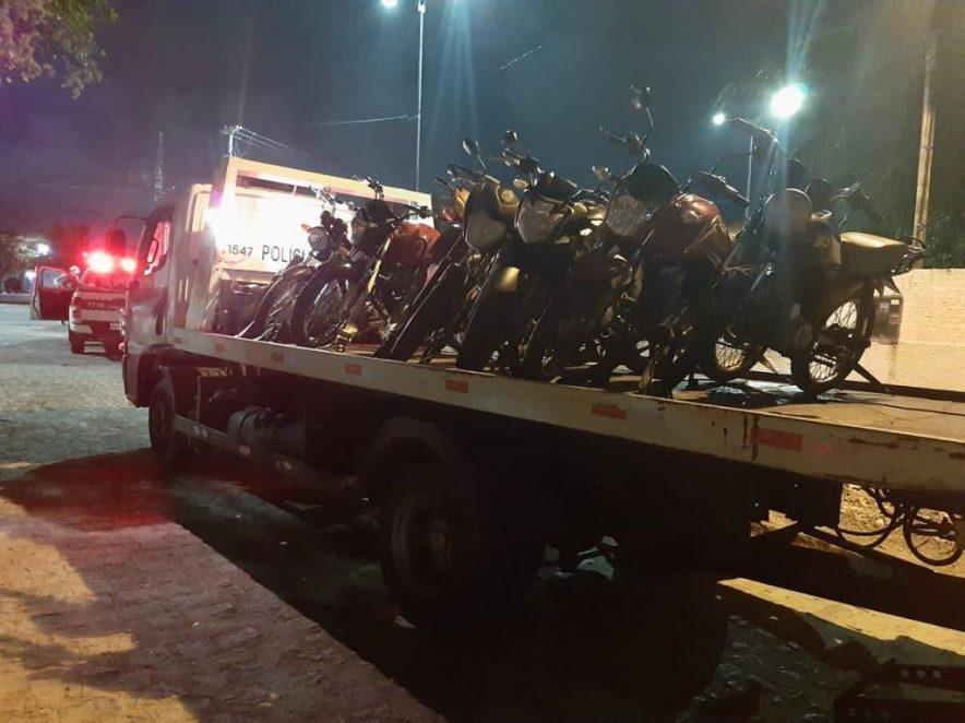 Paraíba Online • Polícia Militar apreende motocicletas irregulares em João Pessoa