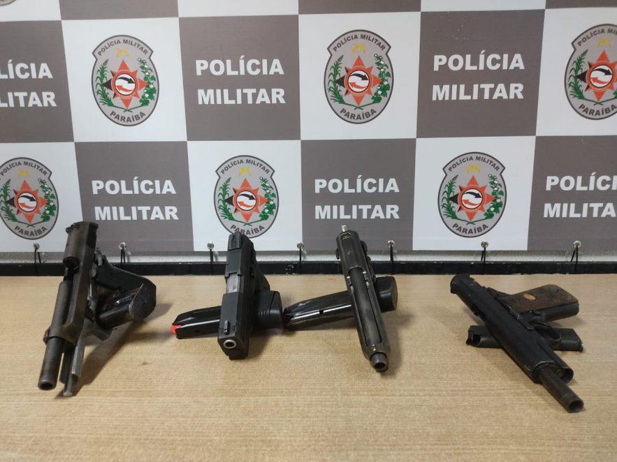 Paraíba Online • Polícia prende mulher com quatro armas de fogo em hotel de JP