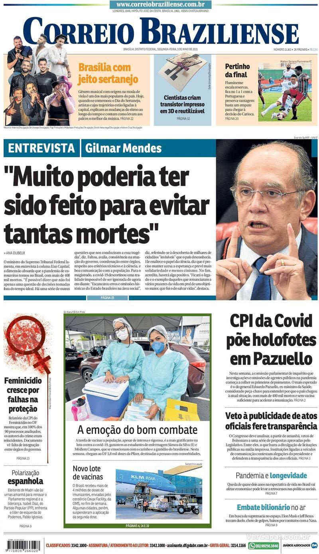 Paraíba Online • Manchetes desta segunda-feira dos principais jornais nacionais