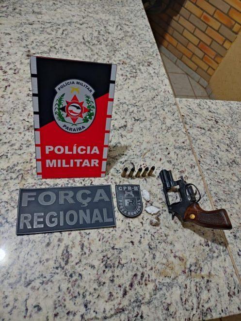 Paraíba Online • PM prende seis suspeitos e apreende três armas de fogo no Sertão