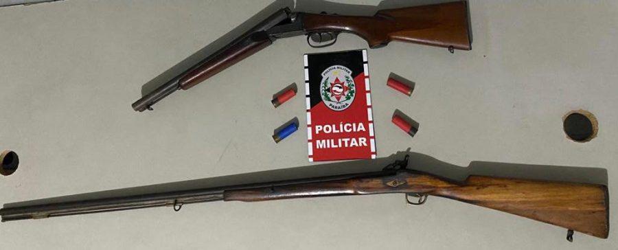 Paraíba Online • Polícia apreende armas de fogo e prende suspeitos no interior da Paraíba